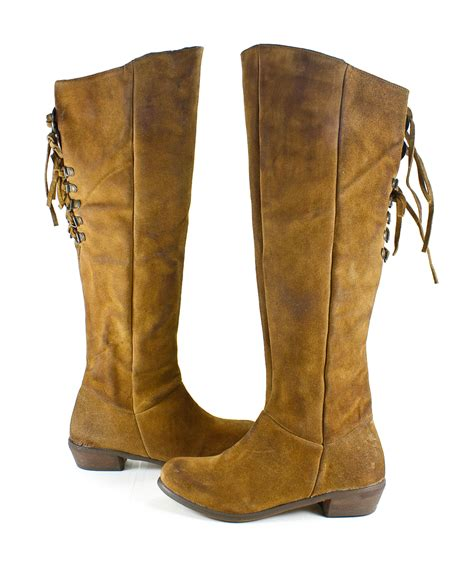 monkey bullet knee high suede leather boots shoes