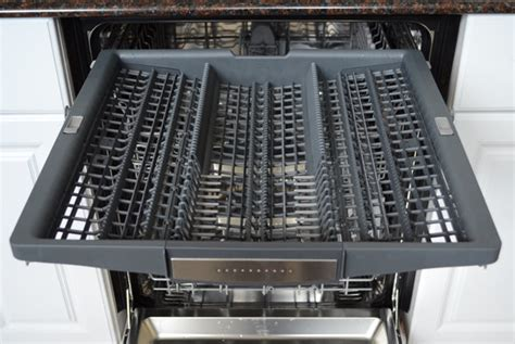 Cutlery Drawer Dishwasher by Bosch Benchmark Series She8pt55uc Review Reviewed Dishwashers