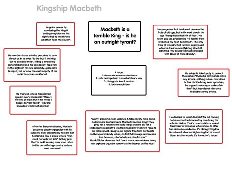 Macbeth Essay Assignments by Macbeth By William Shakespeare