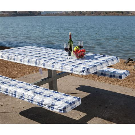 picnic bench covers deluxe picnic table and seat covers direcsource ltd 69047 picnic supplies
