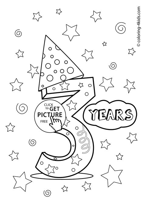 birthday coloring pages for 4 year olds happy birthday coloring pages for 4 years old coloring pages