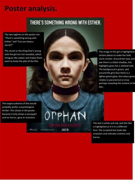 orphan film poster analysis the gallery for gt orphan movie poster