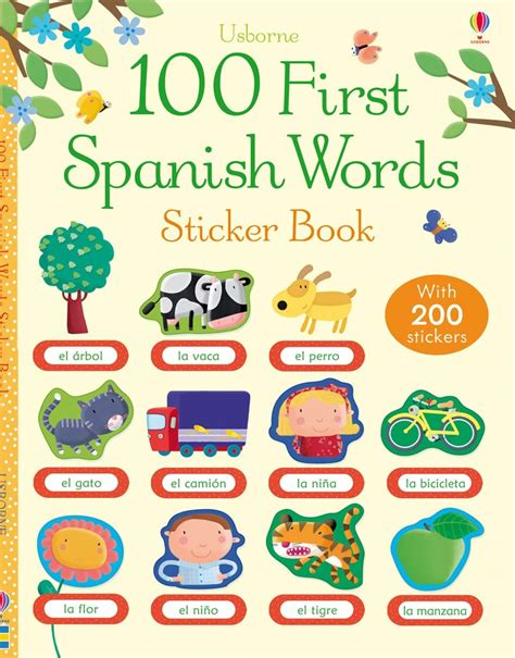 words and pictures book 100 words sticker book at usborne children