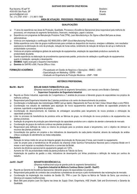 Modelo Curriculum Quimico Farmaceutico Curriculum Vitae Potuguese Gustavo Rocha