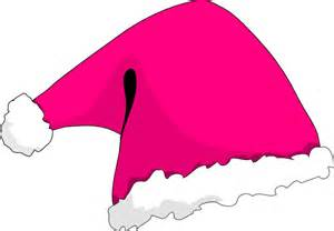 pink christmas hat clip art at clker com vector clip art online royalty free public domain