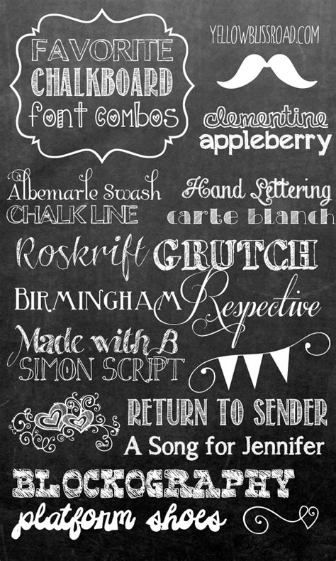 printable sign fonts how to make your own printable chalkboard sign yellow