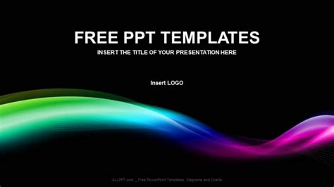 colored wave abstract ppt templates free