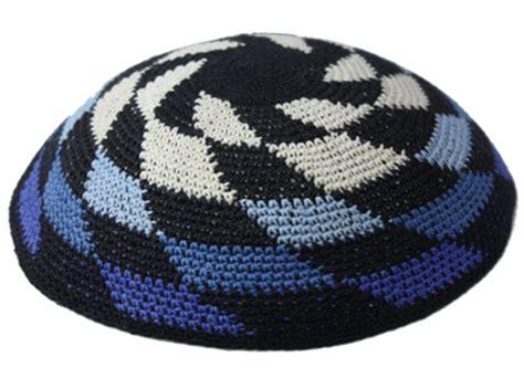 felt yarmulke pattern knit 01 knit kippah item k01 knit kippot skullcap com