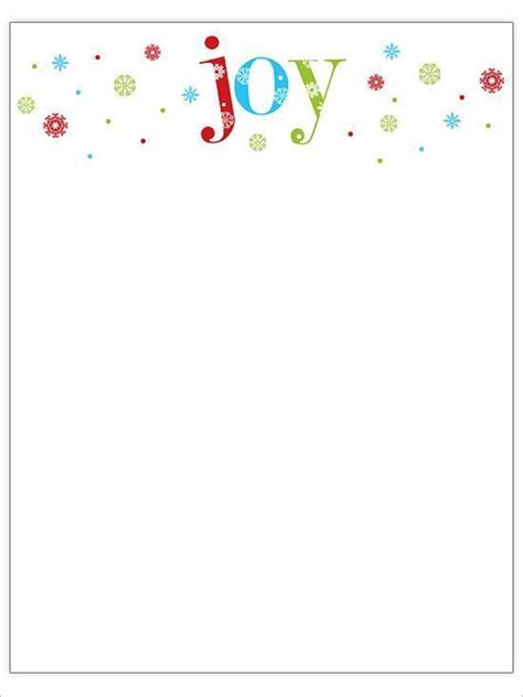 22 Christmas Stationery Templates Free Word Paper Designs Free Merry Letter Template