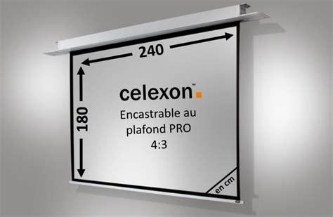 Ecran De Projection Encastrable Plafond by Ecran Encastrable Au Plafond Celexon Motoris 233 Pro 240 X