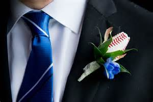 blue boutonniere baseball boutonniere for blue jays themed wedding 171 sports roses your for sports