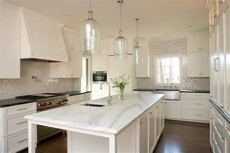 gray long subway mosaic backsplash backsplash com long kitchen island with corsica 1 light pendants