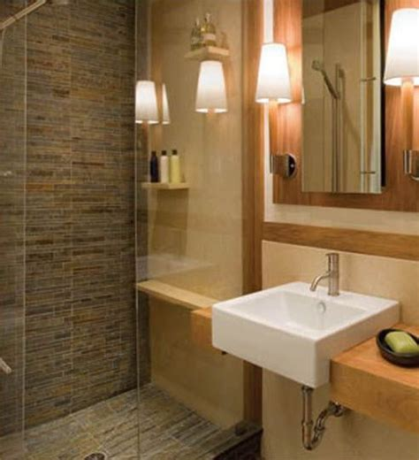 extraordinary wooden touch  bathroom decorating