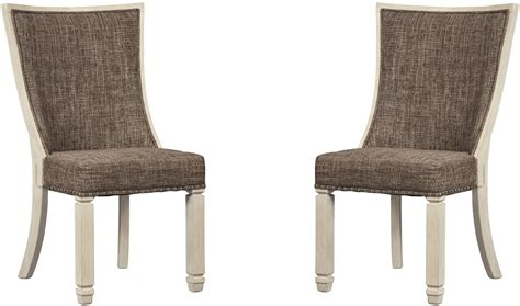 two tone dining chairs bolanburg two tone dining upholstered side chair d647 02
