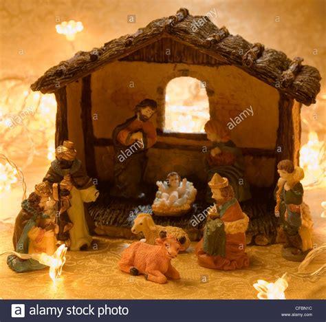 nativity decorations nativity decoration barn and figurines of
