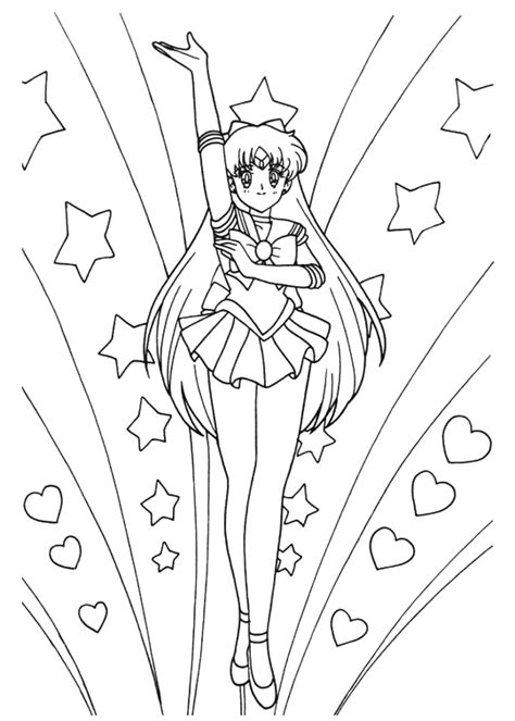 Sailor V Coloring Pages by Sailor Moon Coloring Book2 013 Jpg