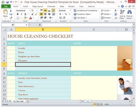 housekeeping application exle housekeeping checklist format for office in excel