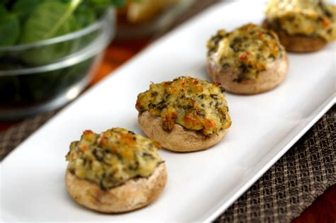 Detox Stuffed Mushrooms by Standard Market Naperville Catering 187 Spinach Stuffed
