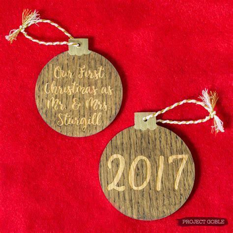 Wooden Ornament our as mr mrs wooden ornament with