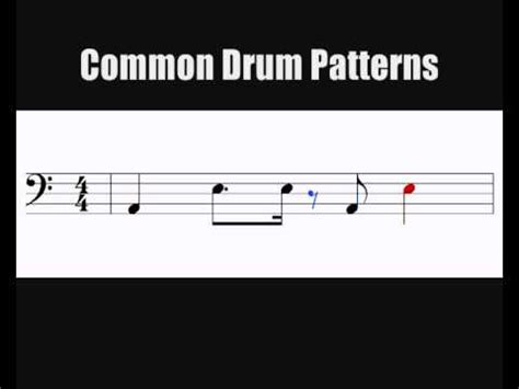 youtube drum pattern reading notation 4 common quot kick snare quot drum kit patterns