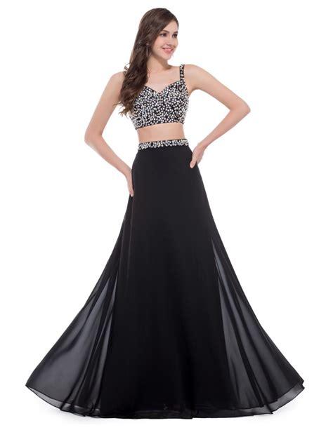design dress black and white grace karin sexy black two piece prom dress designer