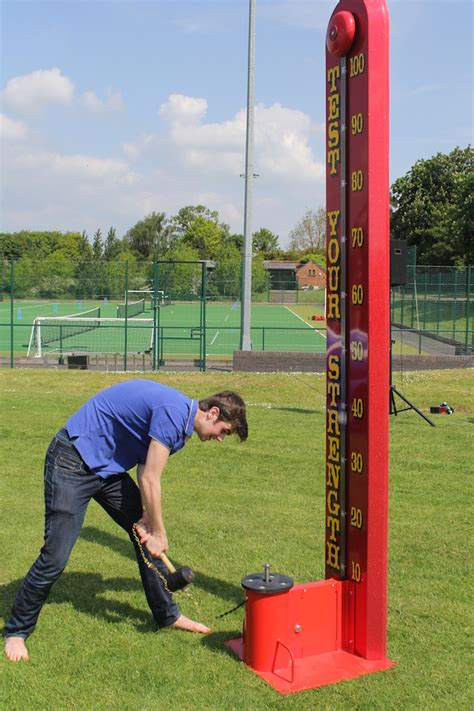 test your high striker test your strength hire inflatables