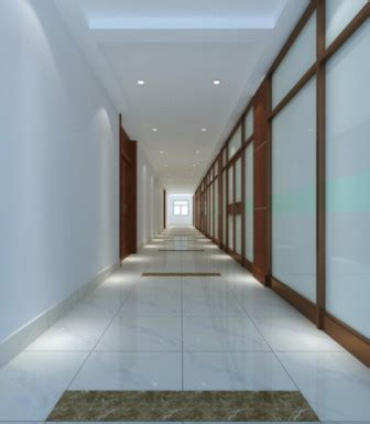 office corridor interior design   model ds max