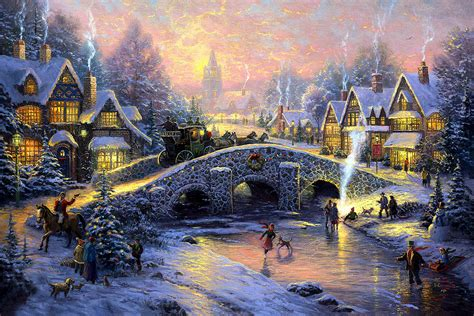 kinkade lighted pictures kinkade pictures