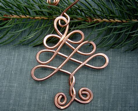 celtic tree ornament copper ornament christmas tree
