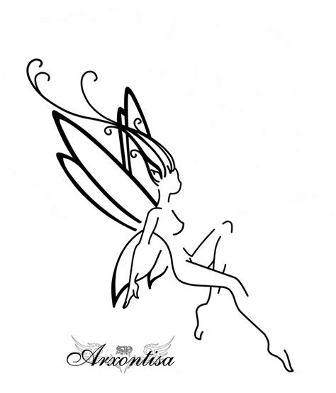 black fairy tattoo designs outlines pictures to pin on