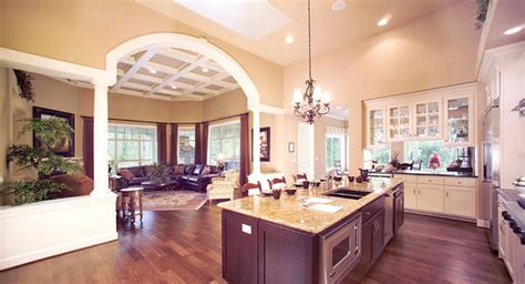 kitchen and great room floor plans create a spacious home with an open floor plan