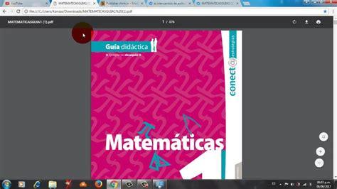 libro primer grado youtube libro de matematicas 1er grado contestado conect