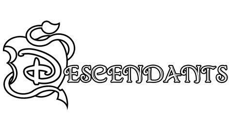 coloring pages of disney descendants descendants logo coloring page get coloring pages to print