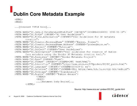 xml metadata tutorial metadata primer