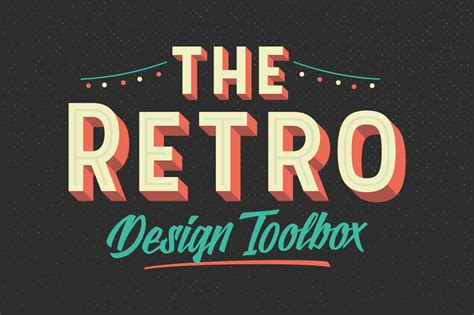 make a typography the retro design toolbox 62 fonts and 1147 graphics only 29 pixelo