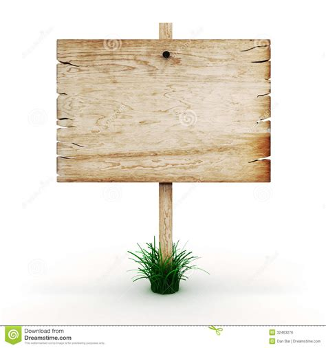 Blank Wooden Sign Board Royalty Free Stock Photo