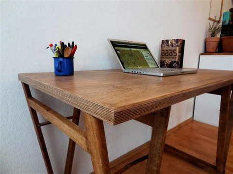 tafel maken plaatmateriaal tafel met multiplex eigen handen
