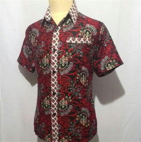 Baju Batik Slimfit Kemeja Batik Slimfit Hem Batik Pria jual kemeja baju hem batik pria cowok laki slimfit junkies