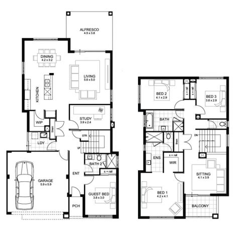 two storey residential floor plan two storey residential house floor plan with elevation house plan ideas house plan ideas