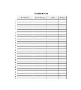 Student Roster Template by Top 4 Resources To Get Free Student List Templates Word