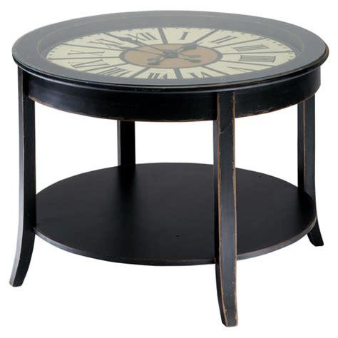 table basse horloge en bois l 72 cm teatime