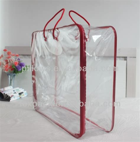 comforter bags clear pvc bedding packaging bag steel rim bag for quilt