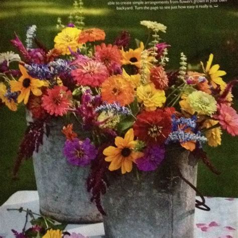 Wedding Aisle Buckets by Outdoor Wedding Flowers In Tin Buckets For Centerpiece Or