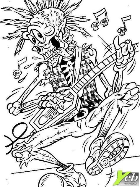 halloween coloring pages music coloriage le squelette musical dans la cat 233 gorie