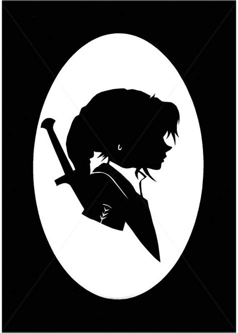 LINK Legend of Zelda matted silhouette by