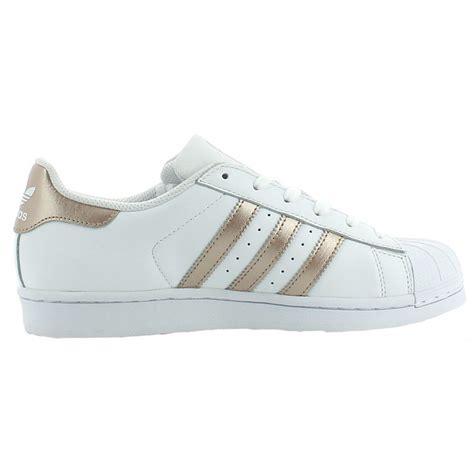 ba adidas shoes superstar  whitegoldwhite