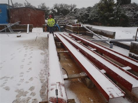 steel and snow assembly of steel framework starts at last 187 roselea