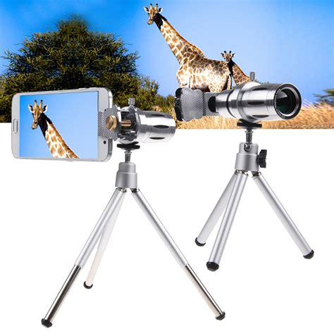 Tripod Zoom 12x zoom telephoto telescope lens tripod mount for various smart phones ebay
