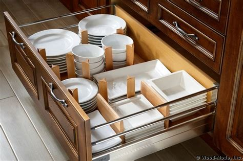 dinner plate storage in kitchen drawer organizer