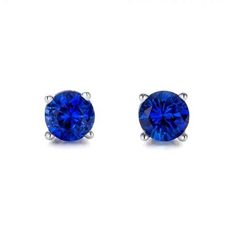 Blue Earring blue sapphire stud earrings 100956